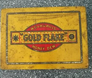 Vintage Tobacco Tin: WD & HO Wills Gold Flake Honey Dew. From a non smoking home