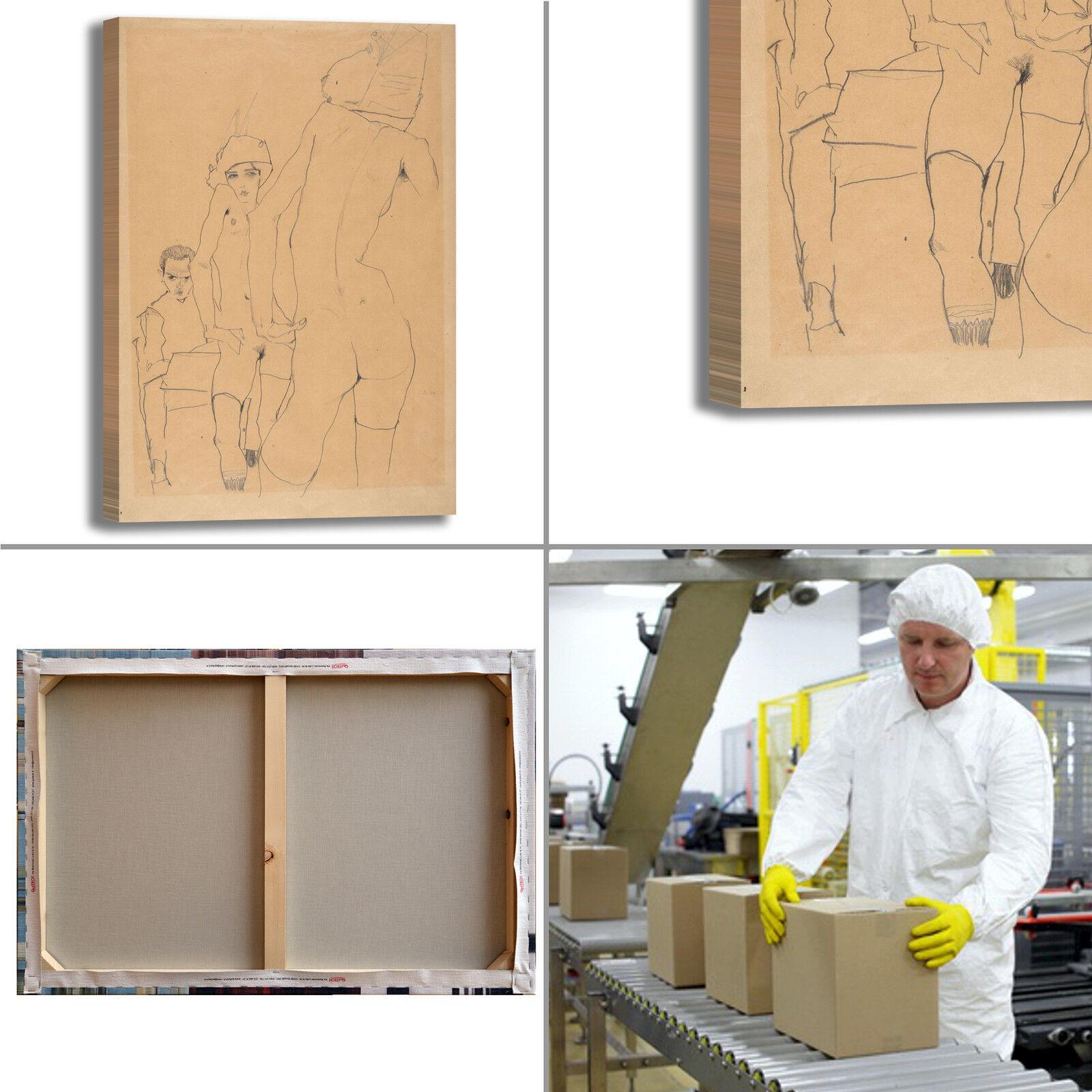 Schiele modelle nude dipinto design quadro stampa tela dipinto nude telaio arRouge o casa 49e768