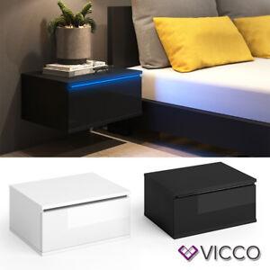 VICCO Nachttisch PIERRE LED Nachtschrank Kommode Schlafzimmer ...