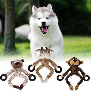 Non-rembourres-peluche-chien-Puppy-Pet-Squeaker-Toys-Squeaky-drole-sonore-Jouer-Jouet