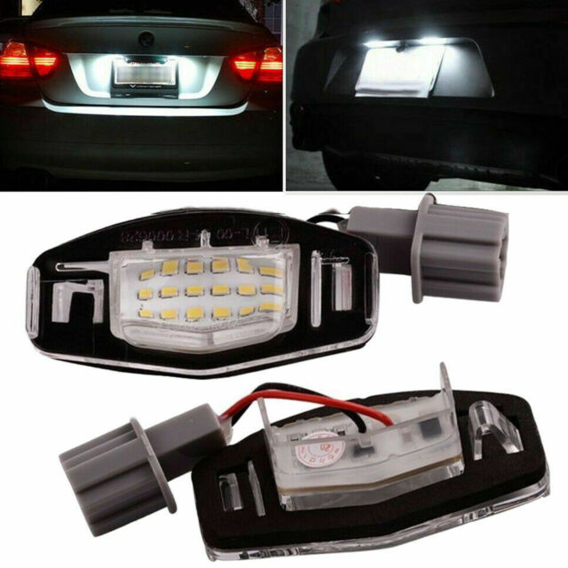 2x For Acura TL TSX MDX Honda Civic Accord 18 LED License