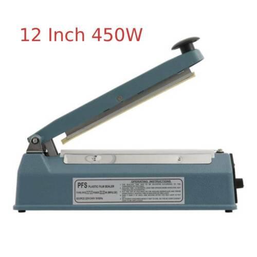 "NEW 8/""12/""16/"" Impulse Sealer Manual Heat Sealing Machine Poly Element Tubing  US"