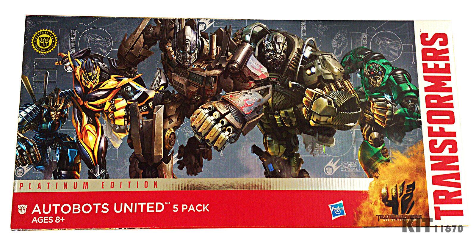 Transformers Platinum Autobot Optimus Hound Drift Bumblebee Crostairs