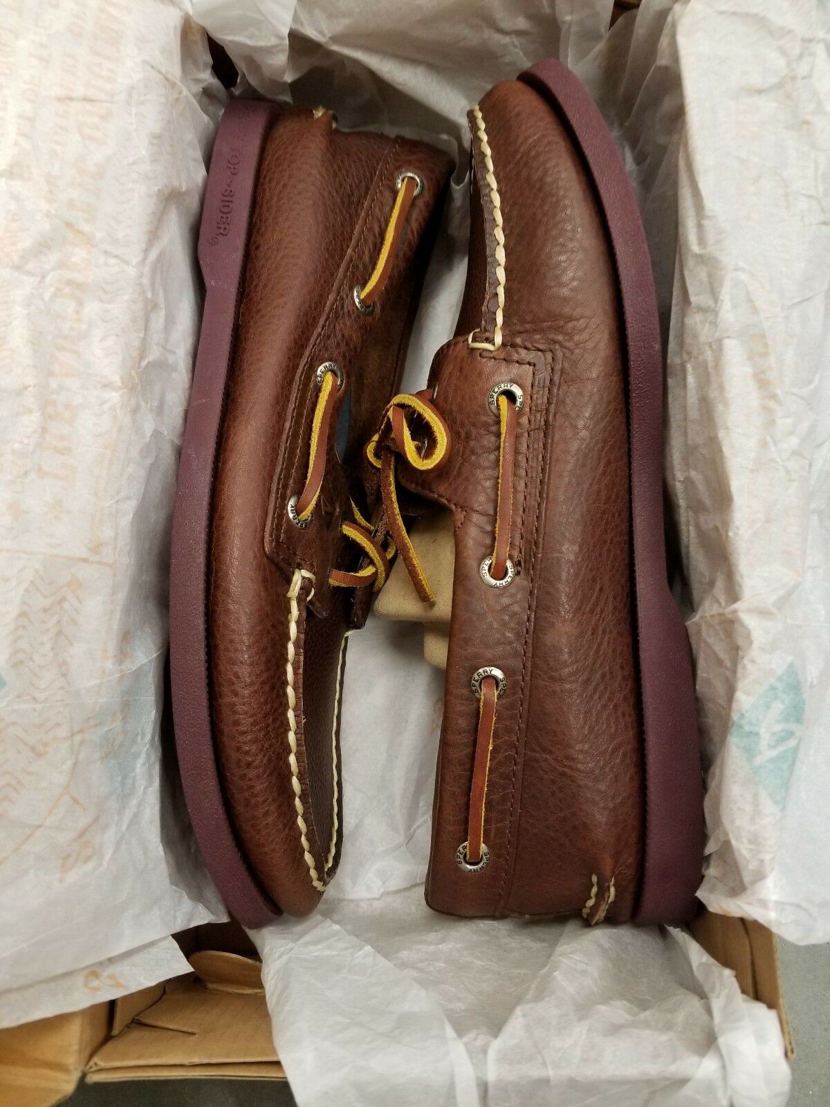 Sperry Top-Sider A O 2-Eye Size  7M color  Sole Brown Boat shoes  RETURNED