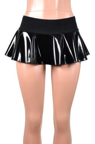 Black Stretch Vinyl Micro Mini Skirt shiny XS S M L XL 2XL 3XL plus size goth