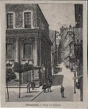 Stampa antica CALTAGIRONE veduta della Scalinata Catania Sicilia 1891 Old print