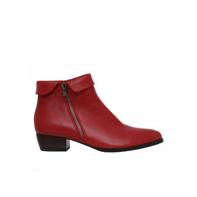 NEW Zazou Zippy Red Leather Boot