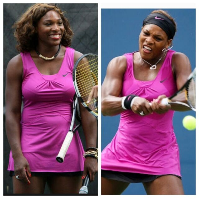 Nike dryfit Serena Williams magenta tennis dress Size XS