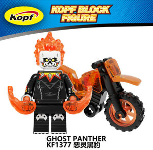 Ghost Rider Minifigure Rare new lego MOC Super Hero Marvel Figure Toy Kids Gift