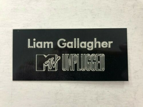 Liam Gallagher Engraved Plaque MTV Unplugged Signed Memorabilia Display purposes