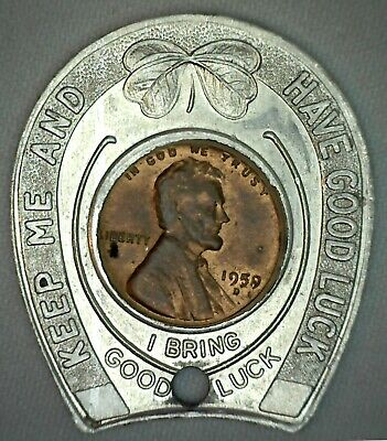 Lincoln Cent /&  ELKO GOOD LUCK TOKEN N.O.S. ZEKES  ELKO NEVADA  encased U.S