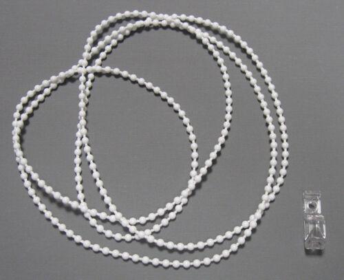 Bedienlängen: 50-300 cm verschweißt 4,5*6 mm Rollokette Endloskette weiß