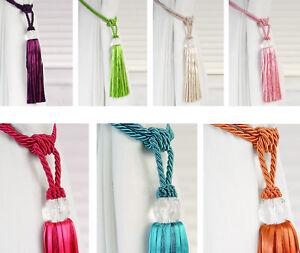 Crystal Beaded Tiebacks Tassel Curtain Tie Backs Tieback Ebay