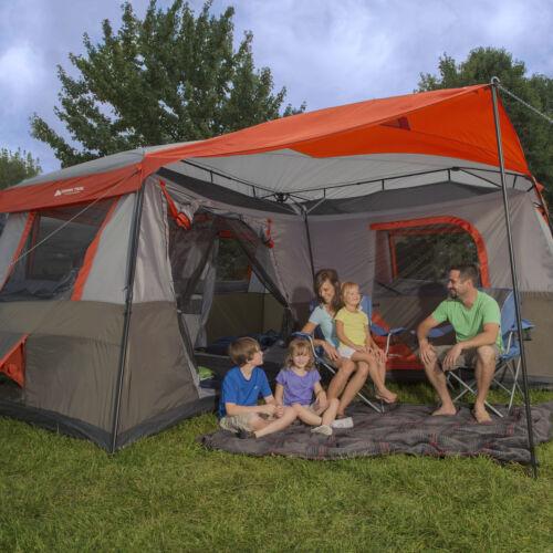 12 personne 16x16 instantané cabine tente 3 Pièce Extérieur Camping Tente Auvent Abri