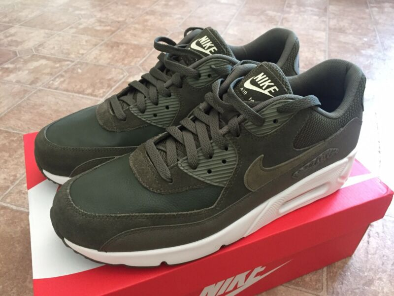**brand New** Men Nike Air Max 90 Ultra 2.0 Leather Cargo Khaki/olive Sz Us 11.5