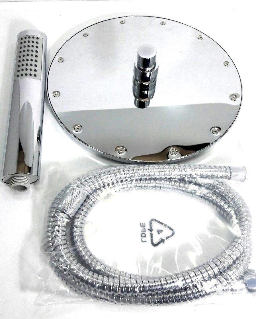 Kopfbrause Set - 3 teilig - Ø 25 cm - 1 2  Anschluss - Chrom | Ausgezeichnetes Handwerk  | Qualität und Verbraucher an erster Stelle  | Düsseldorf Eröffnung  | Passend In Der Farbe