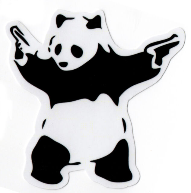 BANKSY PANDA Sticker Decal for Skateboards Scooters Phone Guitar Laptop Case