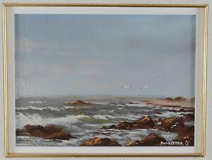 Heinz-Pundleider-1925-Oil-Painting-Ocean-Landscape-Canadian-Listed-Artist