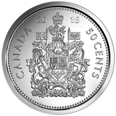 2016 Canadian 50 Cent Circulation Coin ($0.50) - FRESH FROM A ROLL **IN STOCK**
