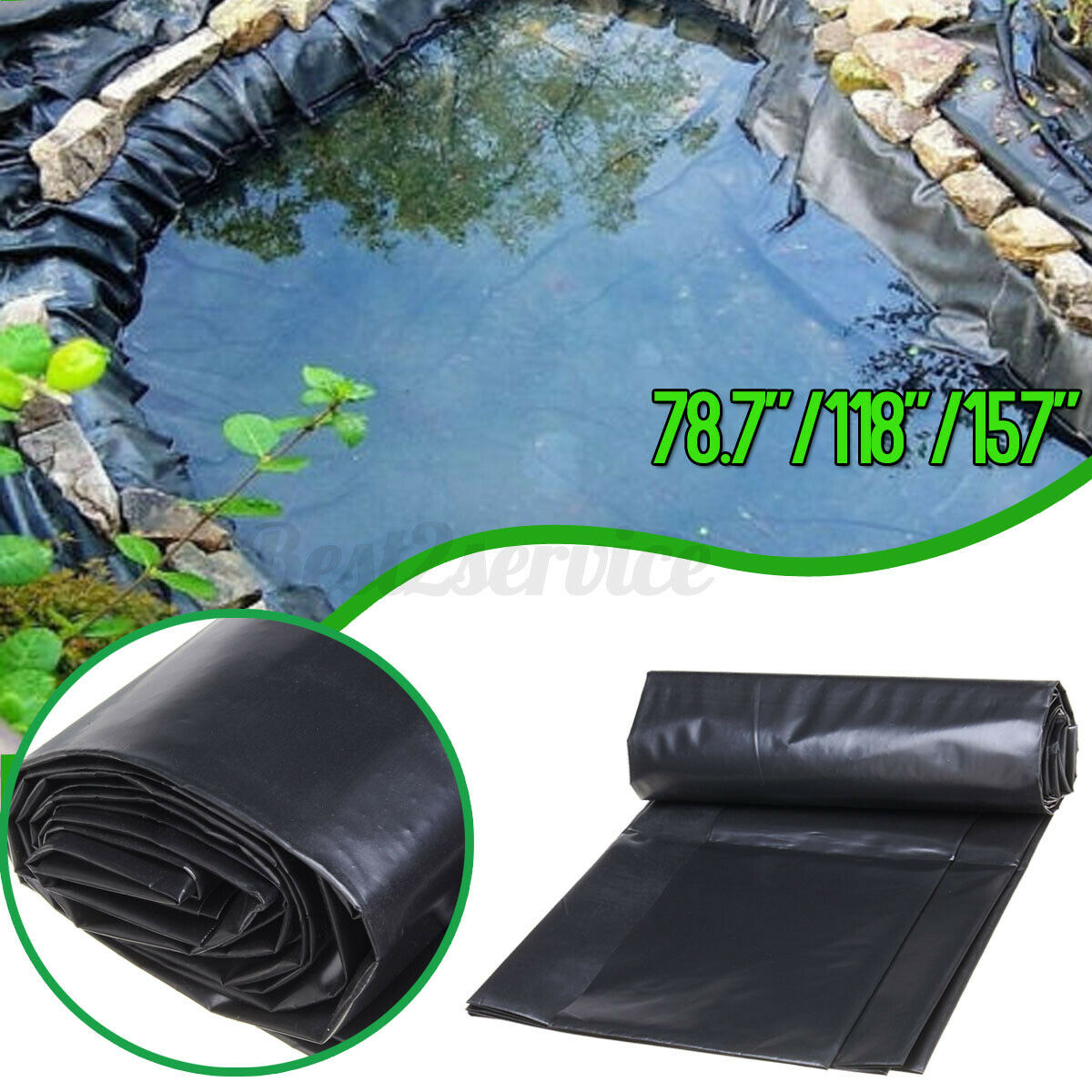 20 SIZES Pond Liner Gardens Pool Membrane Reinforced Landscaping  G