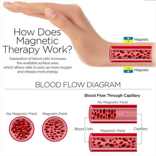 Hommes Medical Alert Magnétique Thérapie Bracelet chaîne Brassard gravé le diabète de type 2