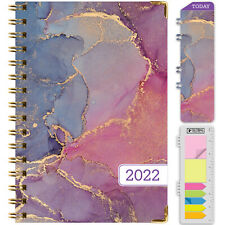 Hardcover 2022 Planner 55x8 Pink Purple Marble
