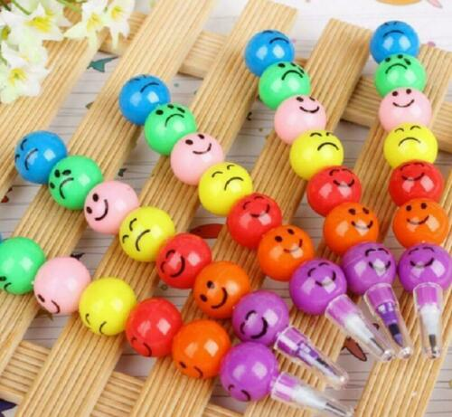 Gift For DIY Face Colorful Children Eco Study Cute Ball 5PCS Stationary Pencils