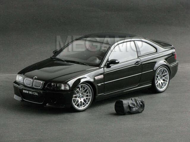 1 18 Kyosho Bmw E46 M3 Csl 2003 Black W Bag Bbs Carbon Roof Rare Paint Rash