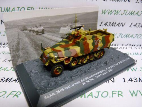 PZ46U Tank militaire 1//72 PANZER n°46 SdKfz 251//9 20 pz div Prusse 1944