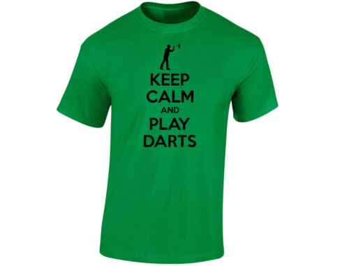 Keep Calm And Play Darts Kids Funny T-Shirt Unisex 12 Colours