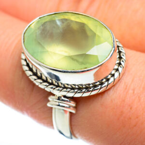 Prehnite-925-Sterling-Silver-Ring-Size-8-75-Ana-Co-Jewelry-R46953F