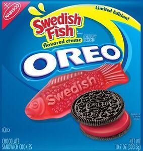 Oreo swedish fish new nabisco limited edition cookie ebay for Swedish fish oreos