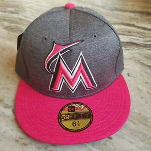 hot sales 3f65e 30830 Image is loading MIAMI-MARLINS-NEW-ERA-59FIFTY-2017-MOTHERS-DAY-