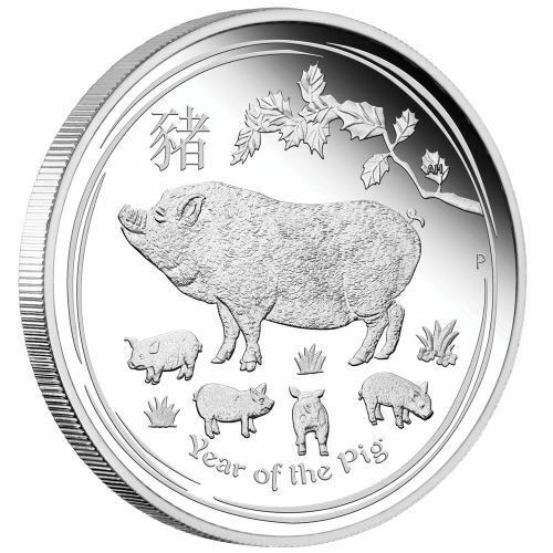 AUSTRALIAN LUNAR SERIES II 2019 YEAR OF THE PIG 1//2 OZ SILVER PROOF COIN