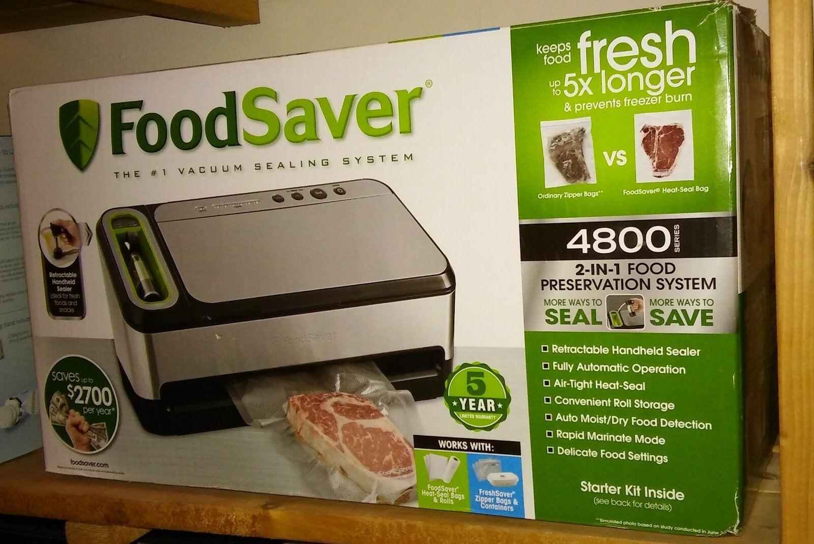 FoodSaver 2-in1 conservation des aliments modèle de système 4825