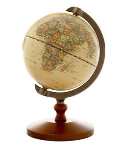 Vintage wood world map globe decorative desktop rotating geography image is loading vintage wood world map globe decorative desktop rotating gumiabroncs Image collections