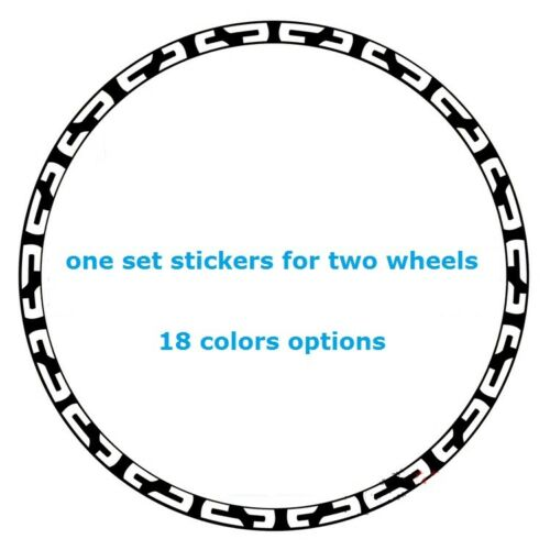Two Wheels Sticker Set Chain Style for Mountain Bike Bicycle Rim Reflective MTB