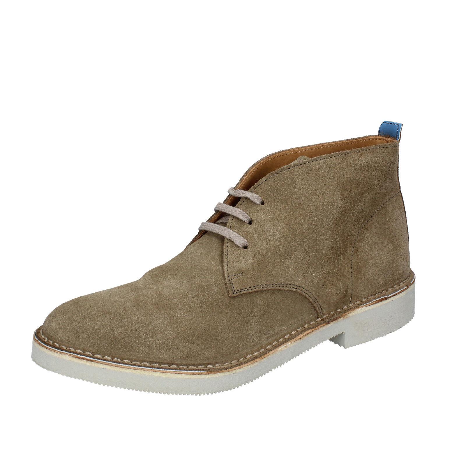 Herren schuhe MOMA 43 EU desert boots Grün wildleder AB428-43
