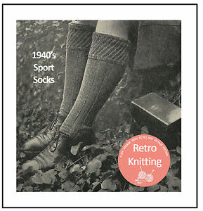 1940039s Men039s Knee Socks Knitting Pattern  Copy - <span itemprop=availableAtOrFrom>WEST SUSSEX, United Kingdom</span> - 1940039s Men039s Knee Socks Knitting Pattern  Copy - WEST SUSSEX, United Kingdom