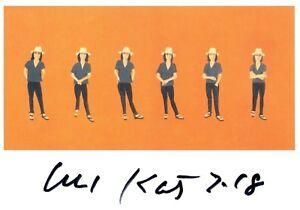 """GüNstiger Verkauf Alex Katz """"vivienne"""" Sammeln & Seltenes Hand-signierte & Datierte Kunstpostkarte Aromatischer Charakter Und Angenehmer Geschmack"""
