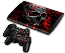 PS3 PlayStation 3 Super Slim Skin Design Aufkleber Schutzfolie - Vampire Skull