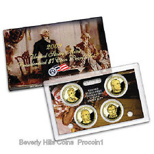 2009 S Presidential Dollar Proof Set 4 Coins W/box and COA
