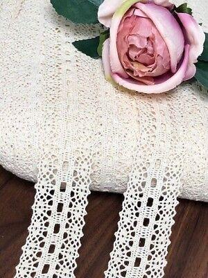 "laverslace Quality White Eyelet Cotton Cluny Crochet Lace Trim 1.5/""//4cm Sewing"