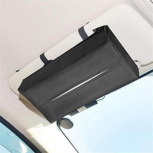 Paper Towel Box BL Car Visor Tissue Holder PU Leather Napkin Cover