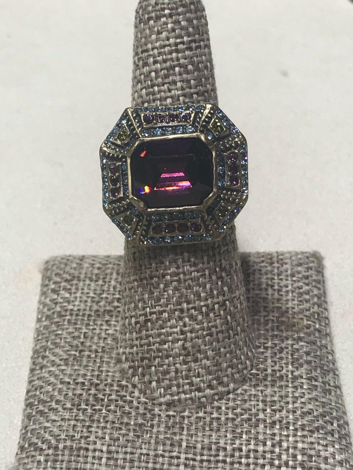 Heidi Daus Purple Square Ring