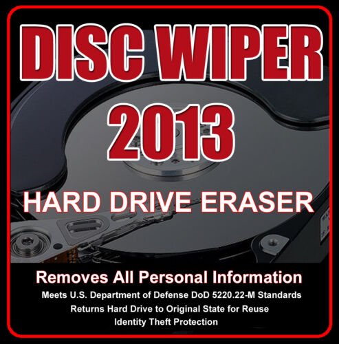 PROFESSIONAL SECURE DATA REMOVAL CD  • PERMANENTLY Removes Windows 8* • 7 • XP