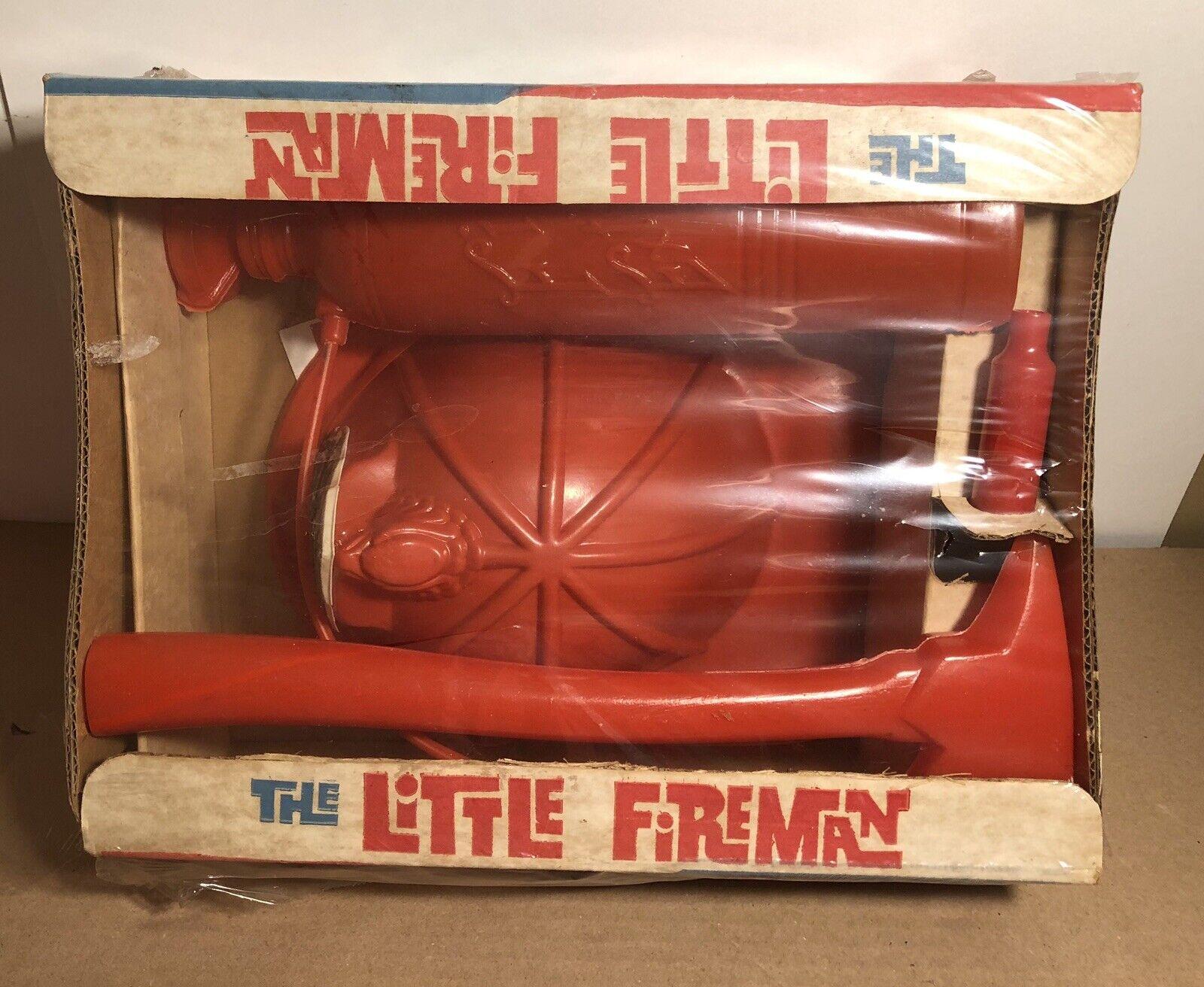 Vintage 1962 The Little Fireman Fire Hat Ax Siren Play Set USA Clinton Toy