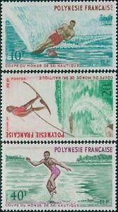 French-Polynesia-1971-Sc-267-269-SG142-144-Water-skiing-set-MNH
