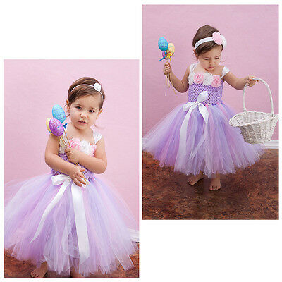 Christmas Baby Girls Fairy Princess Party Flower Tulle Tutu Gown Formal Dresses