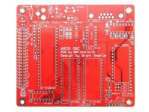 MC6809 Single Board Computer PCB Bare Board, 6809 SBC, NEW [1pcs]